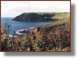 Talland Bay  - from the cliff path to Looe. Photo: RJT