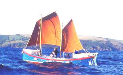 Ryder lifeboat restored, under sail in Talland Bay
