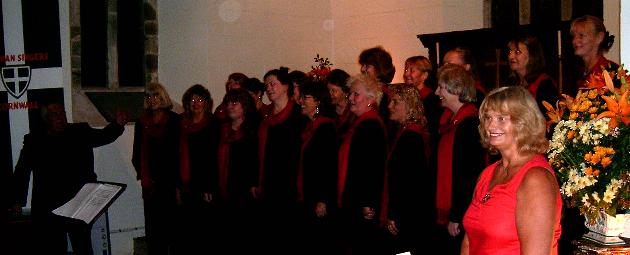 St Piran Singers performing at Talland Church 7 October 2007 - click photo for larger version - copyright www.talland.org 2007 all rights reserved